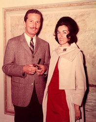 Chapman and Joan at 1st New York Opening Janet Nessler Gallery 1963